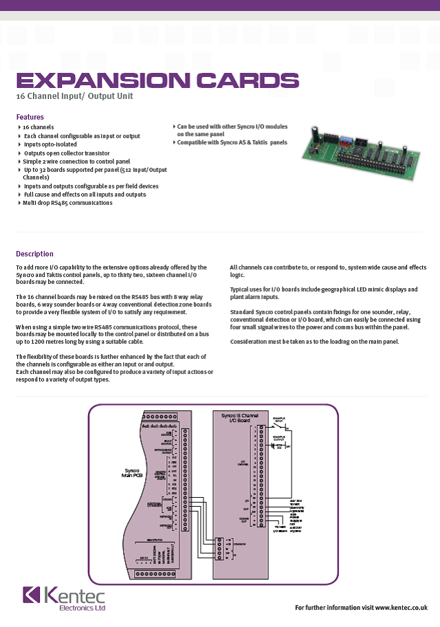 DS22 16 Channel I/O Card Datasheet