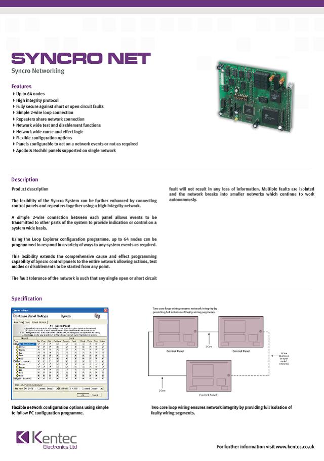 DS23 Syncro Net Datasheet