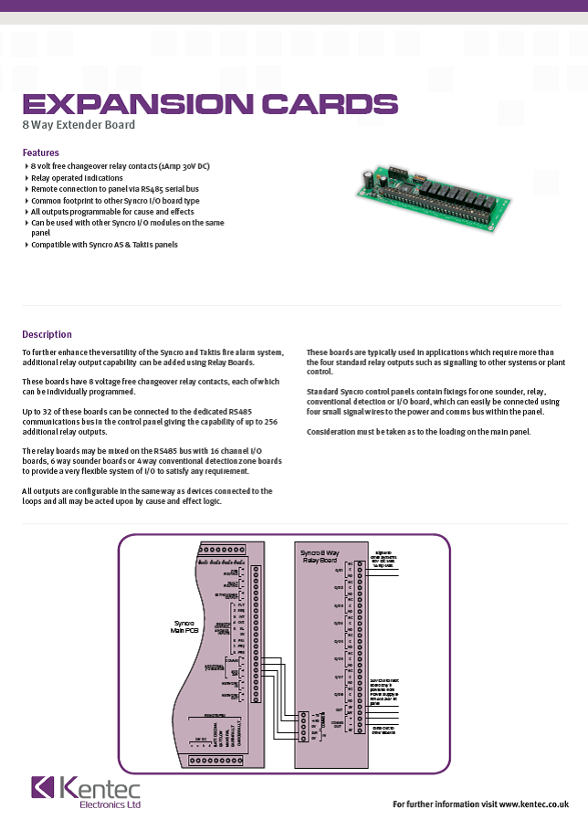 DS33 8-Way Extender Board Datasheet