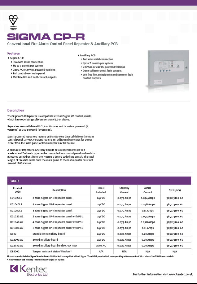 DS39 Sigma CP-R datasheet