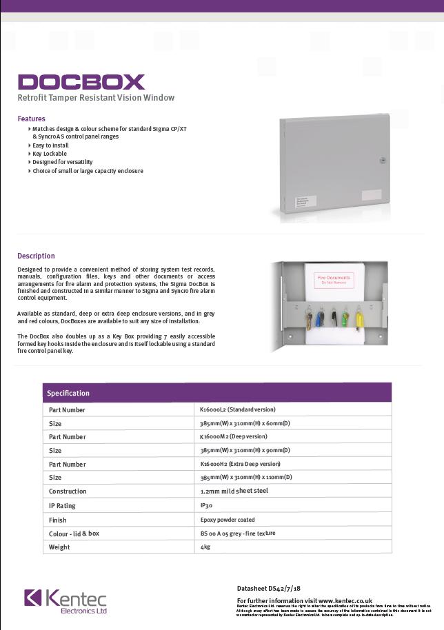 DS42 Docbox datasheet