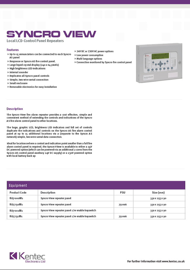 DS43 Syncro View Datasheet
