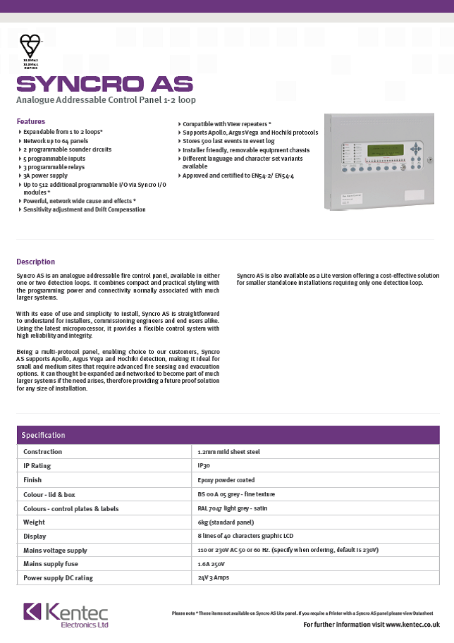 DS47 Syncro AS Datasheet