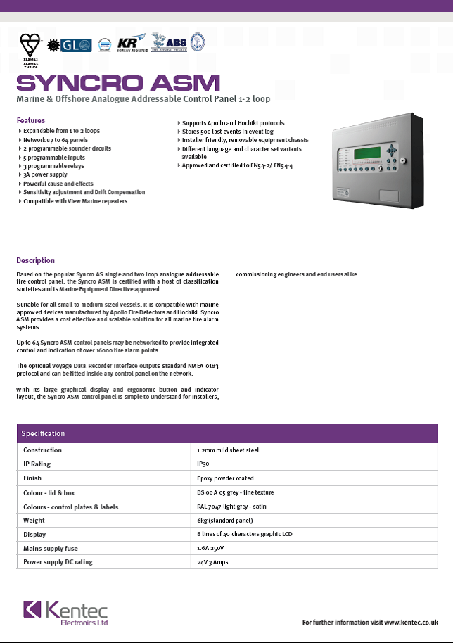 DS51 Syncro ASM datasheet