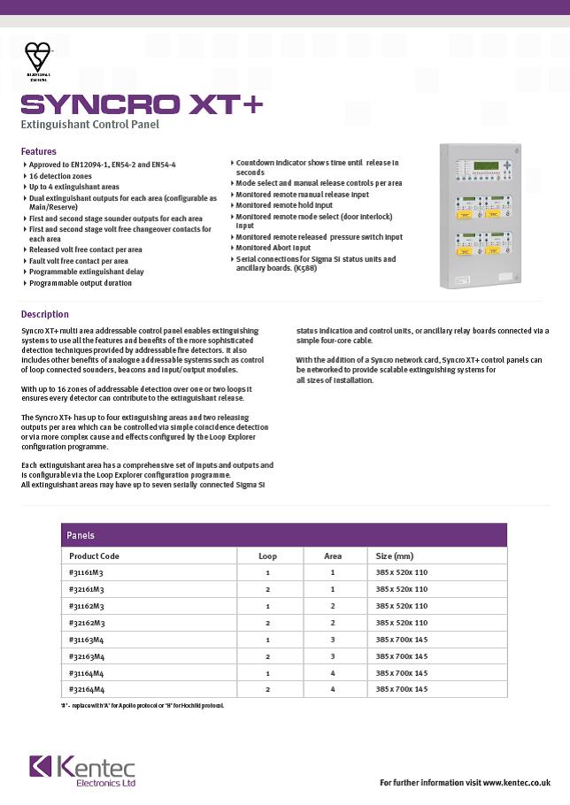 DS58 Syncro XT Datasheet