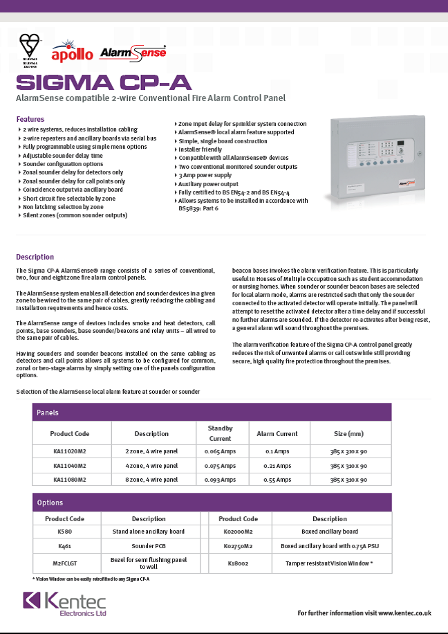 DS65 Sigma CP-A Datasheet
