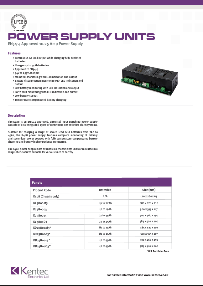 DS67 Switch Mode Power Supply Unit Datasheet