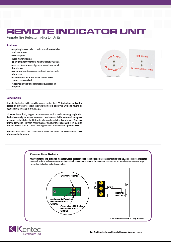 DS68 Remote Indicator Unit datasheet