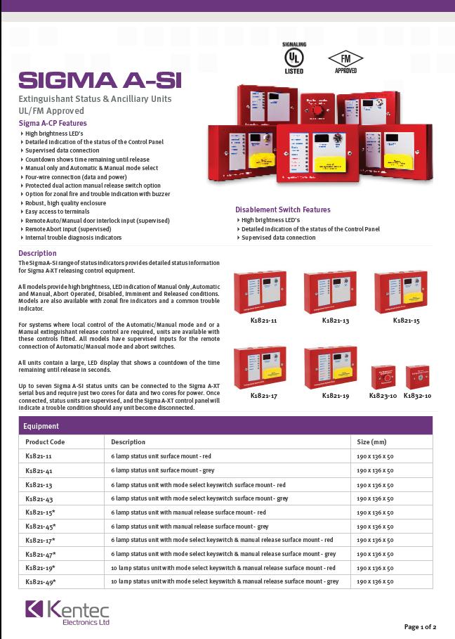 DS73 Sigma A-Si datasheet