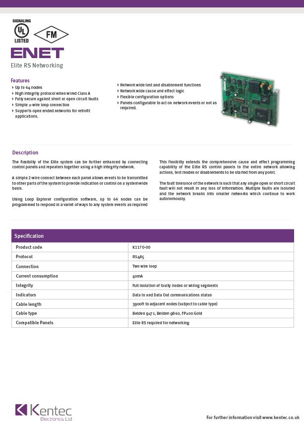 DS84 eNet Datasheet