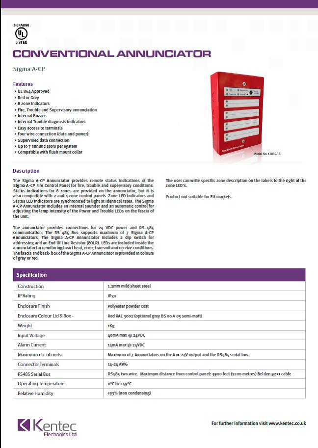 DS93 Sigma A-CP datasheet