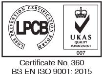 LPCB BS EN ISO 9001:2015