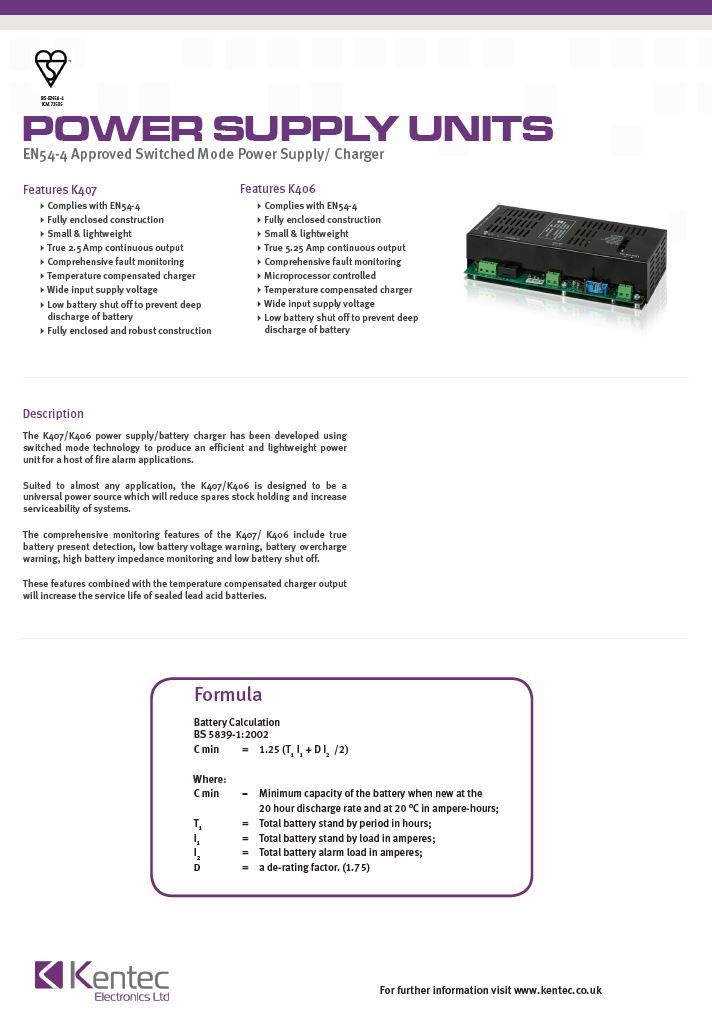 DS19 Switch Mode Power Supply Unit Datasheet
