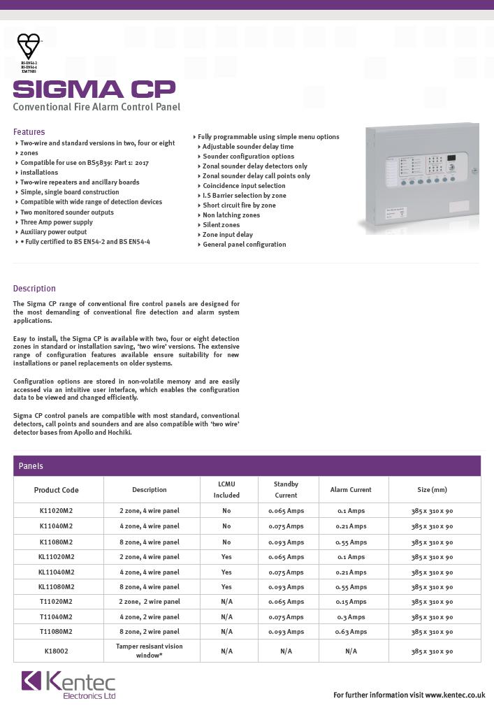DS37 Sigma CP datasheet