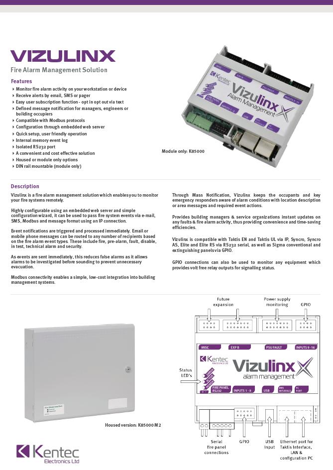 DS108 Vizulinx Datasheet