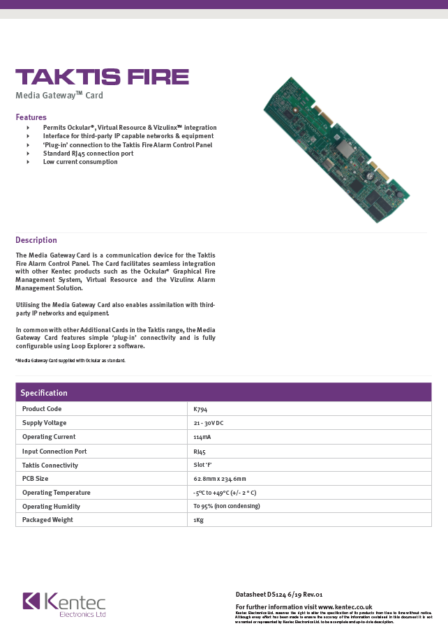 DS124 Media Gateway Card Datasheet