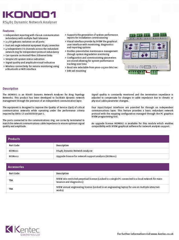DS126 IKON001 Intelligent Network Analyser