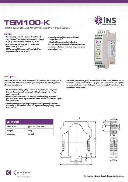 DS129 iNS TSM100-K