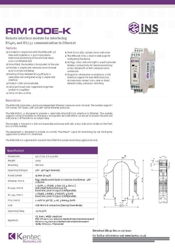 DS130 iNS RIM100E-K