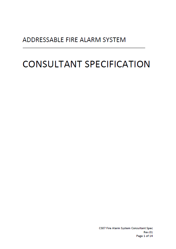 Taktis UL Consultant Specification